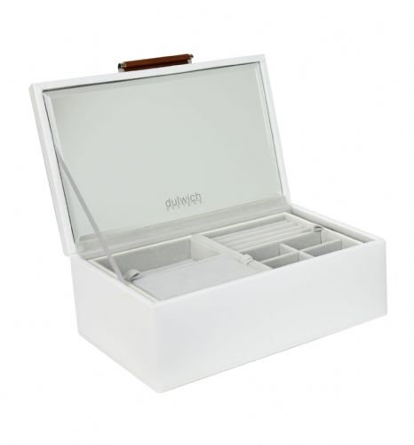 71106 Dulwich Designs Notting Hill Small White Notting Hill Jewellery Box